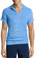 Orlebar Brown Terry Short-Sleeve Polo Shirt, Riviera