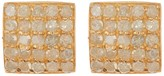 ADORNIA 14K Yellow Gold Plated Sterling Silver Ethel Square Diamond Stud Earrings - 1.00 ctw
