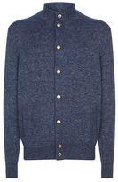 Brunello Cucinelli Knitted Mock Neck Cardigan