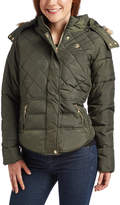 U.S. Polo Assn. Olive Faux Fur-Trim Hood Puffer Coat