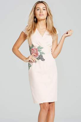 Paper Dolls Blush Rose Applique Dress