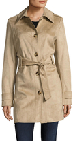 Via Spiga Belted Suede Trench Coat