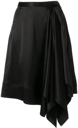 CK Calvin Klein Symmetric Crepe Skirt