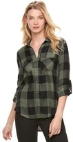 Rock & Republic Women's Drapey Plaid Shirt