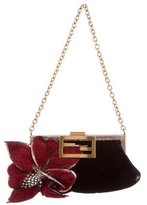 Fendi Fur-Trimmed Evening Bag