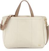 Missoni Halston Leather Satchel Bag, Bone/Ash