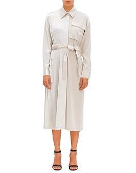 Co Ls Long Dress With Gathered Belt