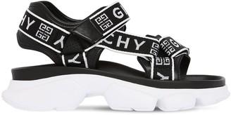 Givenchy 40mm Jaw Logo Nylon Sandals