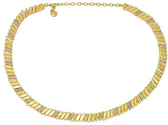 BaubleBar Pave & Gold Collar Necklace