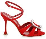 Manolo Blahnik Ticuna Embellished Buckle Sandals