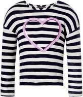 Joules Girls Sequin Heart Fringed T-Shirt