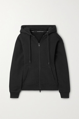 Alexander Wang French Cotton-terry Hoodie - Black
