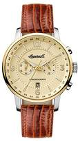 Ingersoll Men's The Grafton Quartz Watch with Cream Dial and Tan Leather Strap I00603