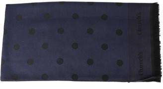 Church's Churchs Black & Blue Wool Polka Dots Design Scarf