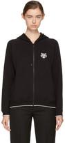 Kenzo Black Tiger Crest Zip Hoodie