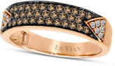 LeVian Le Vian Chocolate Diamond (1/3 ct. t.w.) and White Diamond (1/10 ct. t.w.) Pave Band in 14k Rose or Yellow Gold