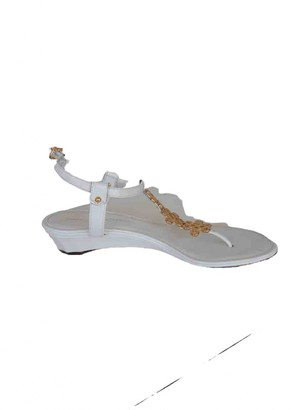 Diane von Furstenberg White Leather Sandals