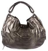Marni Metallic Leather Distressed Hobo