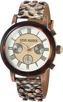 Steve Madden Women's Quartz Gold Casual WatchMulti Color (Model: SMW001AQ-LW)