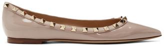 Valentino Pink Garavani Patent Rockstud Ballerina Flats