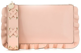 RED Valentino frill trim clutch