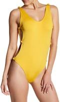 Red Carter Reversible Knot Side One-Piece Swimsuit