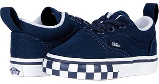 Vans Kids Era Elastic Lace (Infant/Toddler) ((Check Bumper) Dress Blue/True White) Boys Shoes