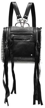 McQ Loveless Mini Convertible Studded Leather Backpack