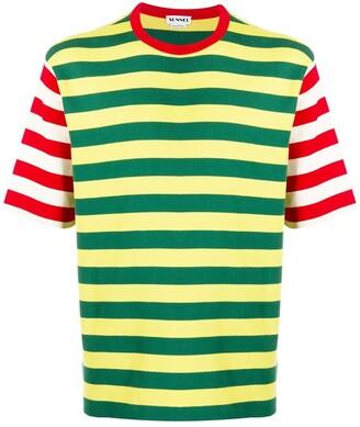 Sunnei colour-block stripe T-shirt