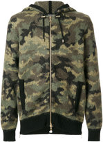 Balmain camouflage zipped hoodie - men - Polyamide/Mohair/Wool/Virgin Wool - M
