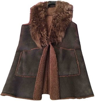 Ralph Lauren Brown Mongolian Lamb Coat for Women