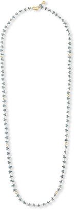 Dominique Cohen 18k Green Sapphire Briolette & Mini-Link Necklace