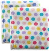 BabyVision® Luvable Friends® Dot Coral Fleece Receiving Blanket