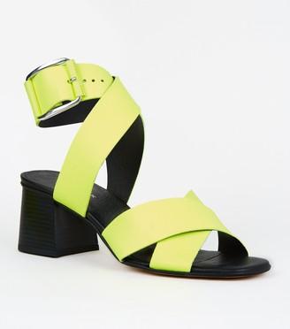 New Look Premium Leather Cross Strap Sandals