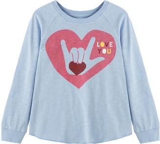 Peek Aren't You Curious Kids' Helen 'Love You' Long Sleeve Graphic Tee