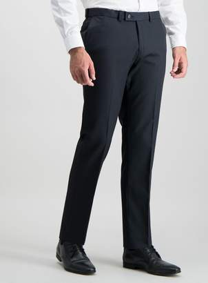 Tu Navy Tailored Fit Active Waistband Suit Trousers