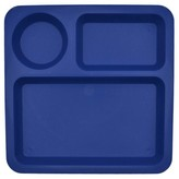 Pillowfort Big Kid's Square Divided Plate 10.5in Plastic Blue Delta