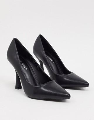 Public Desire Dahlia feature heeled shoe in black