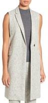 BOSS 'Karana' Fleck Twill Sleeveless Jacket (Regular & Petite)