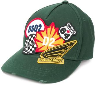 DSQUARED2 Multi-Patch Logo Cap