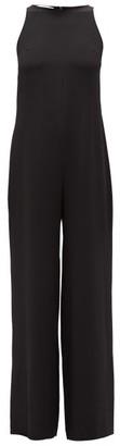 La Collection - Andrea Silk-crepe Wide-leg Jumpsuit - Womens - Black