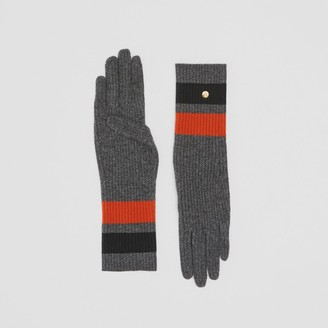 Burberry Monogram Motif Merino Wool Cashmere Gloves