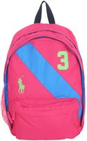 Ralph Lauren Logo Embroidered Nylon Backpack
