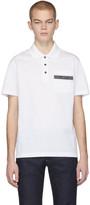 Versace White Pocket Logo Polo