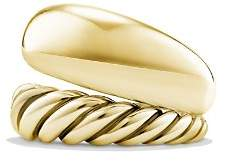 David Yurman Pure Form Two Row Ring in 18K Gold