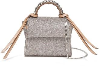Elena Ghisellini Angel Xs Glittered Cotton-blend Shoulder Bag