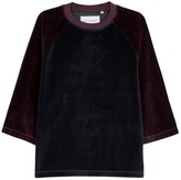 Our Legacy Two-tone Velour Top