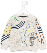 Kenzo all-over print sweatshirt - kids - Cotton/Polyester - 24 mth