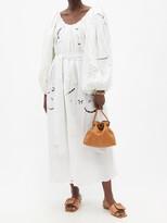 Thumbnail for your product : RIANNA + NINA Kendima Broderie-anglaise Cotton-poplin Maxi Dress - Multi
