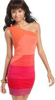 Dress, Sleeveless One Shoulder Colorblock Bandage